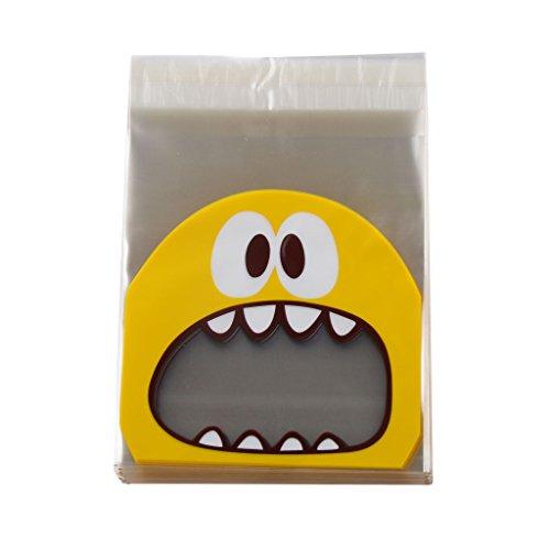 Generic Monster Selbstklebend Cookie Süßigkeiten Beutel Tasche Geschenk - Gelb, 10 * 10 + (Cookie Monster Party)