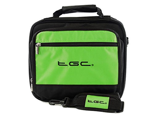 sylvania-sdvd1256-portable-dvd-player-twin-compartment-case-bag-by-tgc-r-electric-green-black