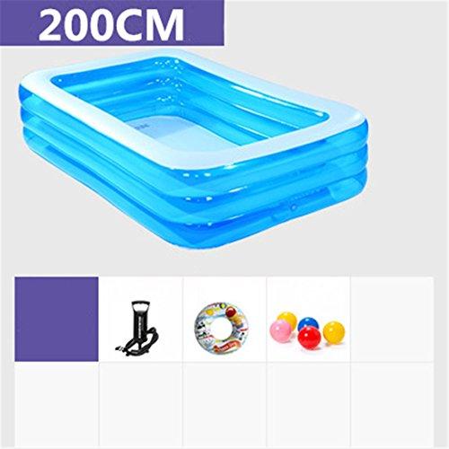 YUGNG Verdicken Umweltfreundliche PVC Baby Kinder Schwimmen Gefaltetes aufblasbares quadratisches Großes Familien-Pool-Ball-Pool 200 * 150 * 55cm für in 3 Jahren Alt
