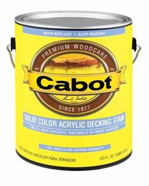 Cabot VOC Solid Color Oil-Based Decking Stain by Valspar