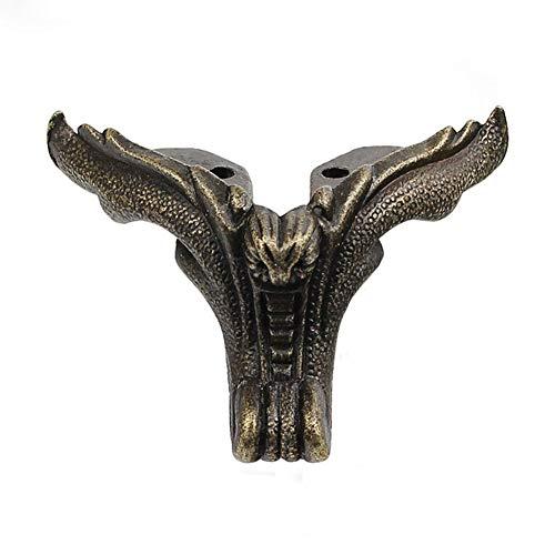 SparY Antik-Dekorative Schmuck-Geschenk-Box aus Holz, Eckenschutz, Füße, Beine, 4 Stück, Bronze, 5.4 2.6cm -