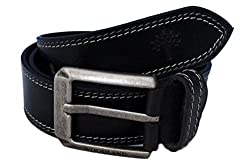 Woodland Men Leather Belt (WoodLand_BT-1039004-Black-42)