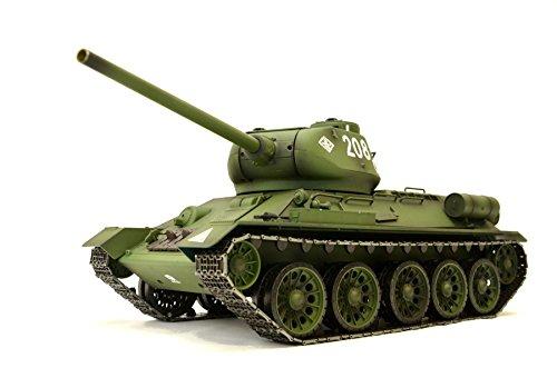 ES-TOYS RC Panzer Russischer T-34/85 1:16 Heng Long -Rauch&Sound + 2,4Ghz - Pro Modell - Mit Metallgetriebe, Metallketten und Metallräder