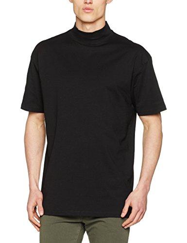 Urban Classic Herren T-Shirt Oversized Turtleneck Tee Schwarz (Black 7)