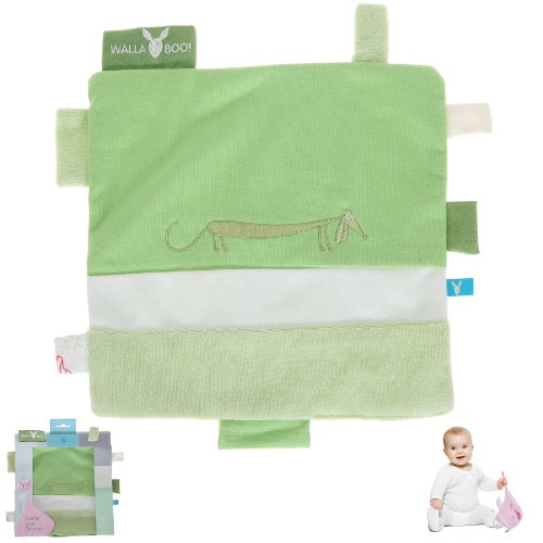 WALLABOO Baby Schmusetuch Nuckeltuch Schnuffeltuch Security Blanket / Lily Green (GRÜN)