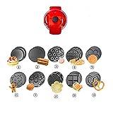 MKXF Multifunktions-Kuchenmaschine Waffelmaschine Frühlingsrolle Maschine Frühstück Maschine Dessert Maschine Kleinen Roten Topf
