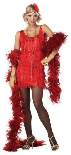 Rotes Charleston-Kostüm für Damen (Kostüme Red Fashion Flapper)