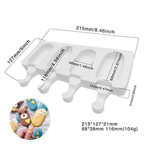lymty Silikon Eisform Pop EIS Am Stiel Formenbauer Gefrorene Dessert Popsicle Tray Home Küche Werkzeuge Pan + 10 stücke Holzstäbchen -
