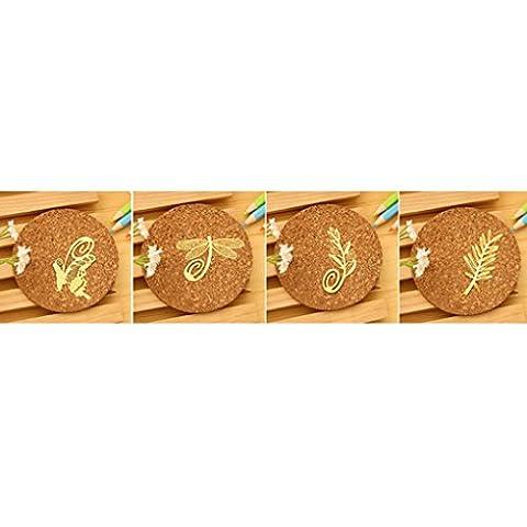 LUFA 4Pcs Chinese Style Minimaliste Classique Mini exquis Métal Bookmark Papillon / / Direction du blé Dragonfly / Olive&5.5 * 3.5cm