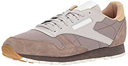 Reebok Mens CL Leather SM Fashion Sneaker, Stone Grey/Sand Stone/Urbn Gry/Beige/Chlk/WHT, 9 M US