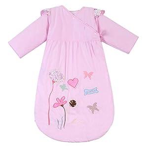 Happy Cherry – Saco de Bebés Niños de Dormir Larga Manga Manta de Algodón – Flor de Loto – Rosa – 90cm, 6 meses – 2 años…
