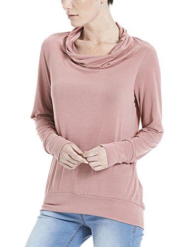 Bench High Waterfall Neckline, Sweat-Shirt Femme Rosa (Canyon Rose PK171)