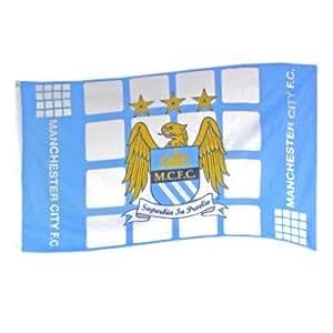 Manchester City FC Flagge Sky Blau & Weiß Groß 5ft x 3ft Supporters Geschenk