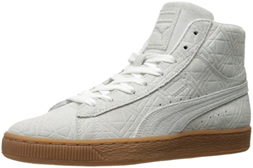 Puma Suede Mid Emboss Sneakers white