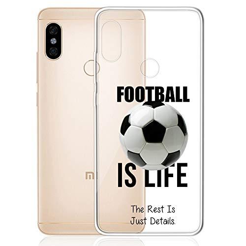 GlamCase Schutzhülle für Xiaomi Redmi Note 5 Pro (Motiv Fußball ist das Leben) -