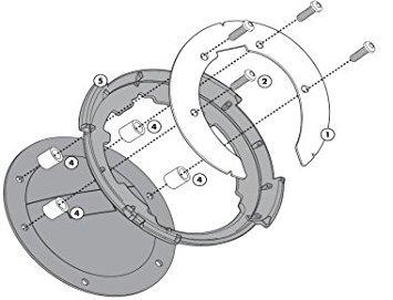 Imagen de givi bf11 fijación lock  de depósito solo para tapa depósito con 6 tornillos