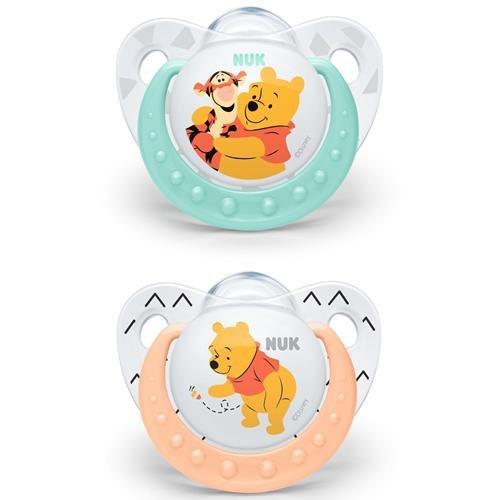 Succhietto Nuk Winnie The Pooh 2 pezzi Silicone 0-6 mesi bimbo e bimba