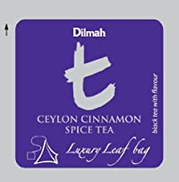 Dilmah, T-series, Ceylon Cinnamon Spice Tea, Foodservice Pack, Biodegradable Luxury Leaf Sachets in Foil Envelopes, 100 Pyramid Sachets