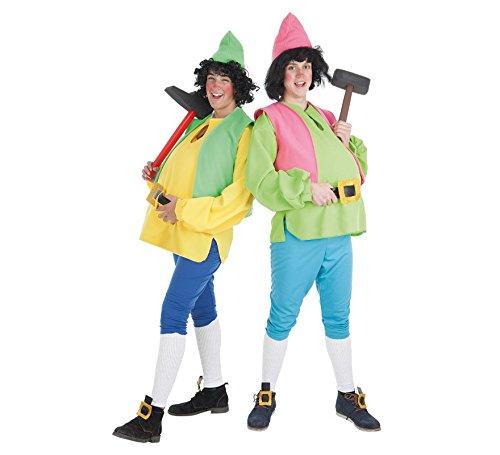 Kreationen Llopis–Zwerge für Erwachsene-Kostüm 3/6Jahre, Farbe gelb, Größe -
