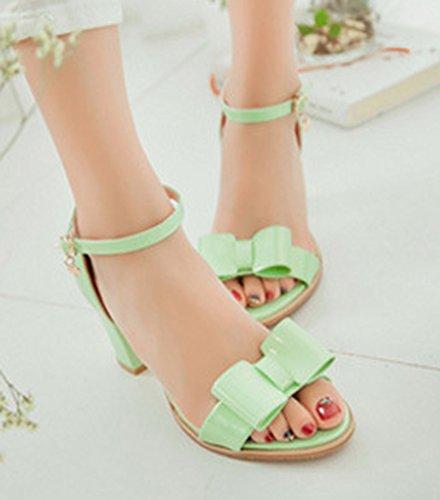 Nodo Loop Elegante Sandali Donna Verdi Toe Open Aisun Di x6AOBnqwwC