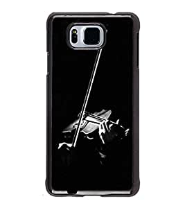 Fuson Premium 2D Back Case Cover Violin With white Background Degined For Samsung Galaxy Alpha G850