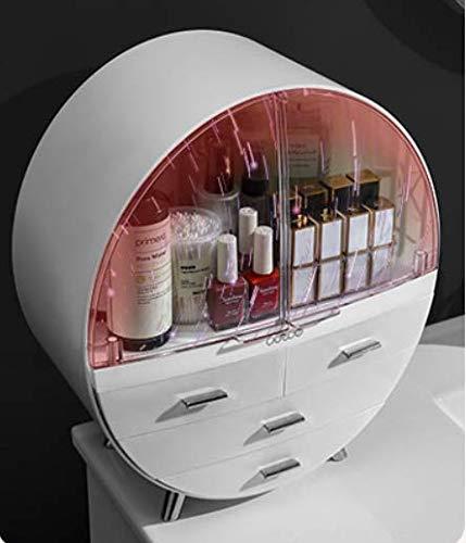 KLDDGF Scatola di immagazzinaggio cosmetica Desktop Maschera Antipolvere Rifinitura acrilica Tabella di medicazione Rossetto Prodotti per la Cura della Pelle Scaffale Grigio 34.5Cm * 17Cm * 41.5Cm
