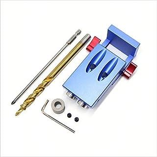 Mini Kreg Style Pocket Loch Jig Kit-System für Holz arbeiten & Schreinerei + Schritt Bohrer und Zubehör Holz Arbeit, Werkzeug-Set mit Box