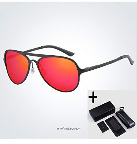 LKVNHP Hohe Qualität Polaroid Sonnenbrille Männer Polarisierte Fahren Sonnenbrille Brillen Männliche SonnenbrilleSchwarz-Rot