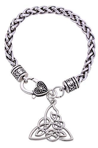 EUEAVAN Vintage Celtic Knot Triquetra Knotwork Pulsera con Colgante para Hombre y Mujer