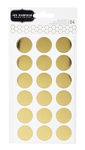 Cottage Living Stickers 54/Pkg-Gold Circles