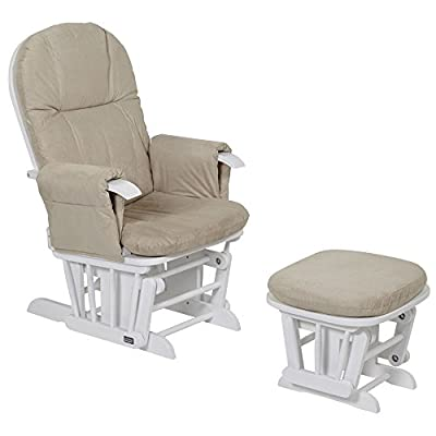 Tutti Bambini GC35 Deluxe Glider Chair & Stool (Natural) produced by Tutti Bambini - quick delivery from UK.