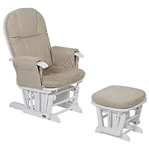 Tutti Bambini GC35 Deluxe Glider Chair & Stool, White