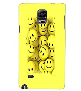 SAMSUNG GALAXY NOTE 4 SMILEYS Back Cover by PRINTSWAG