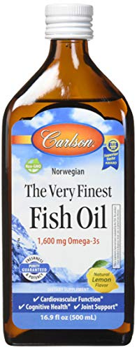 Carlson The Very Finest Fish Oil Liquid Omega-3 Lemon, 500ml by Carlson Laboratories