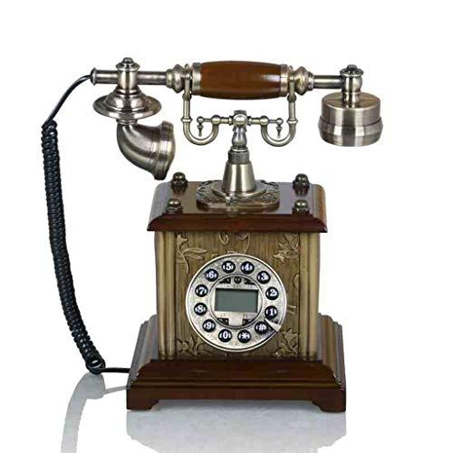 Büroelektronik Retro High-End-Mode-Creative-Home-Telefon Festnetz Festnetz Europäische Antik Telefon Dekoration Geschenk Bürotelefone (Color : Brass, Size : 25 * 19 * 29cm)