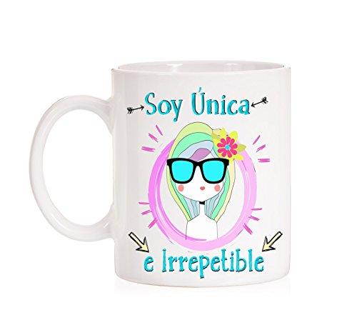 MardeTé Taza Soy Única e Irrepetible. Taza de Regalo Ideal para motivación. Taza Feminista.