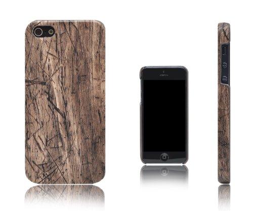 XCessor wood texture coque de protection rigide en plastique pour apple iPhone SE / 5 / 5S Brown - Cherry