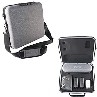 Kismaple ANAFI Protective Hardshell Carrying Case Travel Cover Shoulder Bag for Parrot ANAFI Drone, Remote Controller, Batteries and Accessories