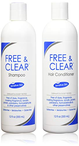 Free & Klar Set, inklusive shampoo-12 oz und conditioner-12 oz – One je.