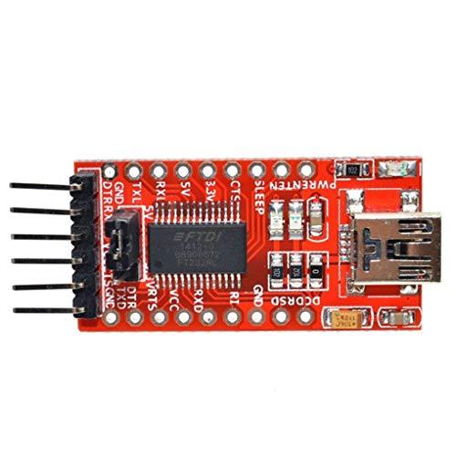 Aiming FT232RL 3.3V 5.5V USB Serial Adapter-Modul Ersatz für Arduino Mini-Port-Transceiver Signal TTL-CMOS-Ebene Board TTL (Ebene Elektrischer)