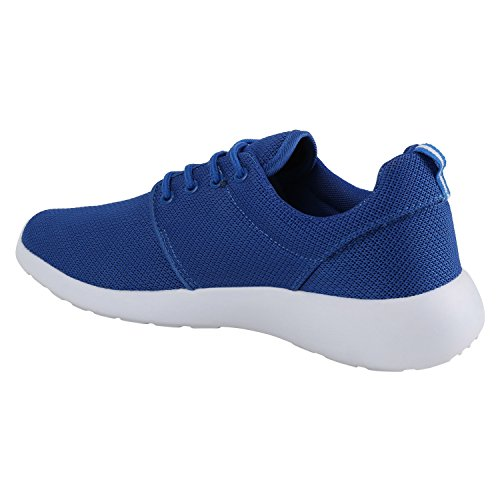 Damen Laufschuhe | Modische Sportchuhe| Sneaker Profilsohle |Glitzer Pailletten Sneakers | Runners Snake Blumen Blau Weiss