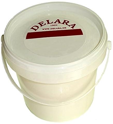 DELARA Sehr hochwertiger Pflegebalsam für Leder mit Bienenwachs, Jojoba und Zitronenduft, Farbe: Farblos. 500 ml (Whites Detergente)