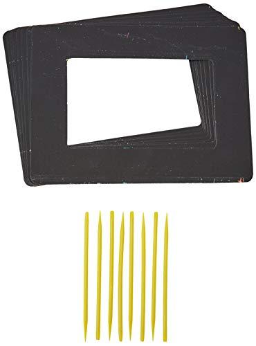 Baker Ross Kratzbild-Bilderrahmen - 21.5cm x 16cm - scratch art für Kinder zum Basteln - 8 Stück