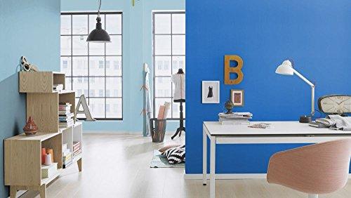Vliestapete Uni Struktur Einfarbig blau Tapete Rasch Prego 740066 - 3