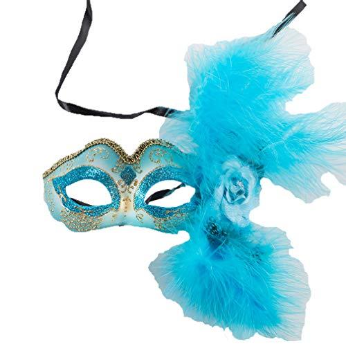 TINGTING Halloween Mardi Gras Maske Royal Blue Venezianische Maskerade Masken Für Paare,Blue