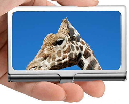 Biglietto da visita professionale, arte digitale, faccia, giraffa cassa/id caso carta di credito