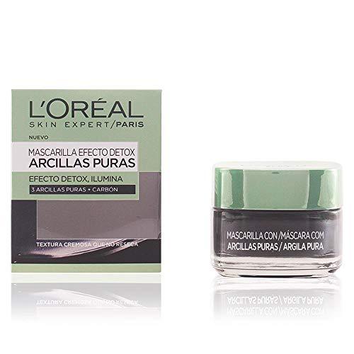 5. L'Oréal - Mascarilla facial de arcillas y carbón