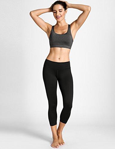 CRZ YOGA Donna Reggiseno Yoga imbottito Supporto Criss Cross Back Heather Charcoal