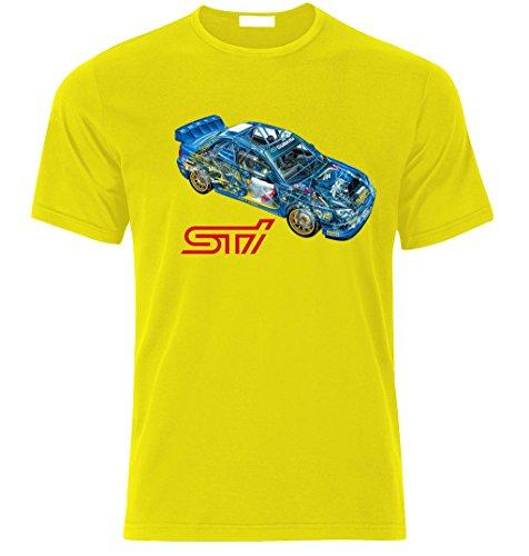 SUBARU IMPREZA GD STI WRX WRC McRae Mäkinen Solberg Fan T Shirt T-SHIRT Gelb