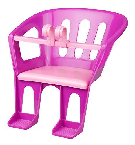 Lena 61160 - Lenkersitz für Puppen bis 46 cm, Sitz in lila mit rosa Sitzfläche, Puppensitz zum Anhängen an Lenker von Dreirad, Roller und Kinderfahrrad, Puppenzubehör für Puppenmuttis ab 3 Jahre